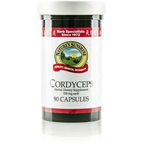 Naturessunshine Cordyceps Supports Kidneys Fuction Herbal Food Supplement 90 Capsules (Pack of 2)