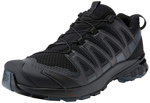 SALOMON Women's Trail Running Shoes, XA PRO 3D v8 GTX W, Colour: Black (Black/Phantom/Ebony), Size: UK Size 6