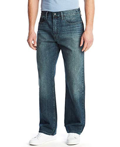 Nautica Men's Loose Fit 5 Pocket Jean Pant, Crossed...