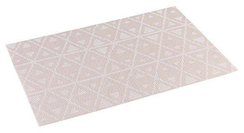 décorline set de table 30x45cm pvc trigone taupe