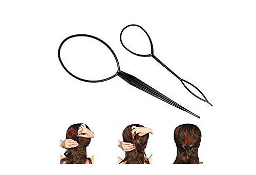 Werkzeug Haar Tresse für Pferdeschwanz Styling Maker Schwarz