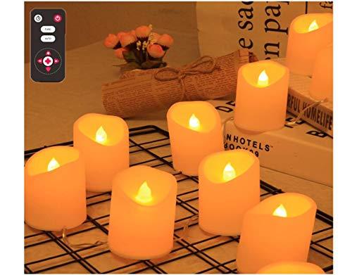 Lypumso USB LED Kerzen mit Flackereffekt,10er LED flammenlose Kerzenlicht Warmweiß Mehrere Blitzmodi Mit Fernbedienung