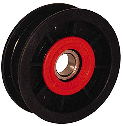 "Fenner Drives FA2009 PowerMax Flat Belt Idler, 1"" Section, Glass Reinforced Nylon, 17 mm Bore, 2.00"" OD"