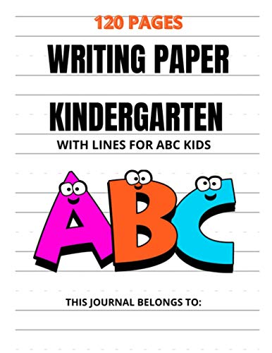 kindergarten writing paper with lines For Kids: handwriting practice paper preschool : 8.5in*11in perfect handy size with 120 blankwriting pages .