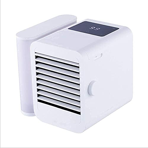 JANEFLY Personal Air Conditioner Mini,Rechargeable Personal Air Cooler with 3 Speeds,Portable Air Conditioners for Room/Bedroom/Office/Dorm/Camping Durable