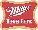 Miller High Life Logo Sticker- Miller Lite Beer Drink Vinyl Decal (3 in)