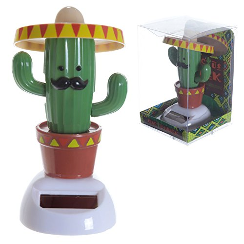 St@llion Fun Collectable Cactus dragen Sombrero Solar aangedreven Pal Decoratie Accessoires Voor Gift Item Decor (Pack van 1)