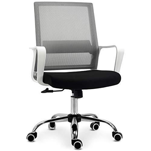 Silla de oficina con revestimiento de malla, altura ajustable y respaldo ergonómico