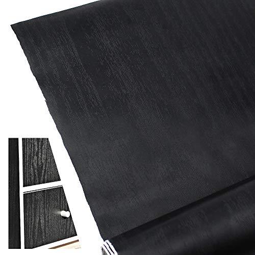 KingYH Carta da Parati Autoadesiva Venatura del Legno Nero 40x200cm Carta da Parati Effetto Legno Carta da Parati in Materiale PVC per Top Cucina Mensole Armadi Tavolo Cassetti