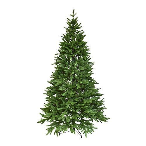 XONE Albero di Natale Charly 240cm | Pino Totalmente in PE Effetto Real Touch | Abete 100% Polietilene Altissima qualità, Massimo Realismo