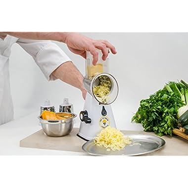 Premium nut chopper veggie slicer cheese shredder Vegetable Slicer Rotary Cheese Grater vegetable slicer nut grinder Rotary Mandoline Vegetable Shredder Rotary Grater Cabbage Shredder Veggie cutter