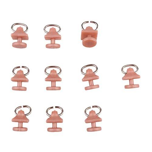Eastery 10 stuks gordijnrolletjes, gordijnhaken, glijders voor gordijnen, eenvoudige stijl, 1# 20 mm Oosterse Middellandse Zee-stijl design, rustieke ornament gordijnen, montage accessoires