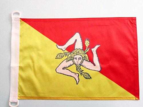 AZ FLAG Bandiera NAVALE Sicilia 45x30cm - Bandiera MARITIMA SICILIANA - Italia 30 x 45 cm Speciale nautismo