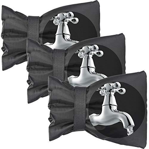 Cubierta Para Grifo Para Exteriores, Calcetines Para Grifo De Jardín, Protector Para Grifo Para Cubierta Exterior Para Grifo, Protector De Protección Contra Congelamiento En Invierno (paquete De 3)