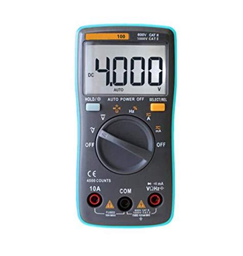 KEKEYANG Medidas Multímetro Digital 6000 cuentas de luz de fondo AC/DC voltímetro del amperímetro Ohm portátil Medidor de Tensión 098/100/109/111, RM100 Multímetro digital