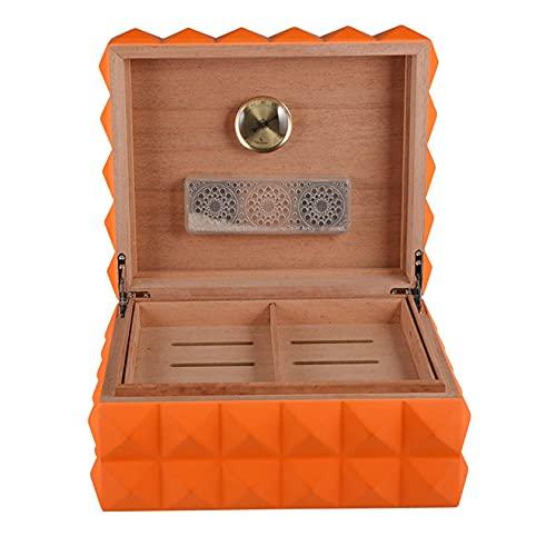 N\\C Desktop Zigarren Humidor, klassischer Holz-Aufbewahrungsbehälter mit Trennwand, mit Tablett und verstellbarem Trenner, bestes Zigarrenzubehör Geschenk für Männer LKWK