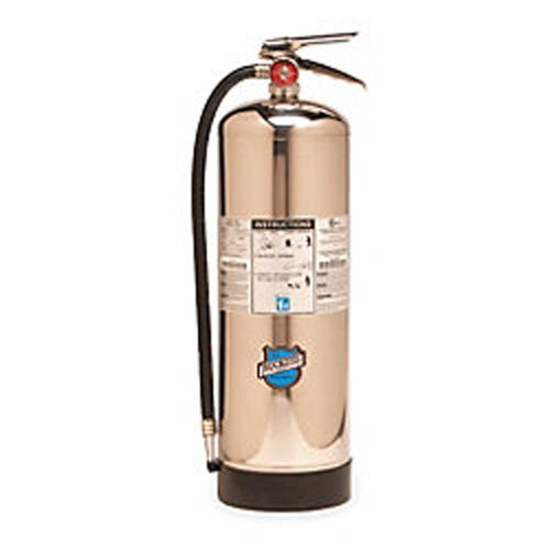 Buckeye 51000 Stainless Steel Water Mist Hand Held Fire Extinguisher with Wall Hook, 2.5 Gallon Agent Capacity, 7