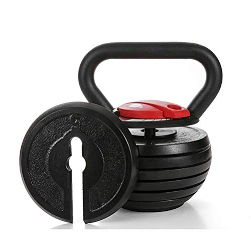 Kettlebells AGYH Fitness, Einstellbares Gewicht 10lb-40lb, Verwendet for Core Training Muskeltraining Krafttraining (Color : Black+Red)