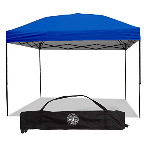 Punchau Pop Up Canopy Tent 10 x 10 Feet, Blue - UV Coated, Straight Leg, Waterproof Instant Outdoor Gazebo Tent, Bonus Roller Carry Bag