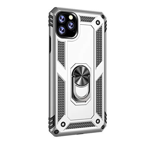 Lasvos Compatibel met iPhone 11 Pro Max,360 graden ring magneet standaard met silicone ultra dunne slim TPU beschermhoes voor iPhone 11 Pro Max