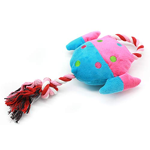 zhenleisier Pet Toys,Pet Cats Kitten Catnip Cute Cotton Rope Fish Shape Plush Doll Squeaky Chew Toy Teeth Cleaning Interactive Hunting Exerccise Need Toy Pink + Blue