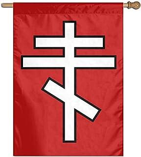 """Eastern Orthodox Cross Garden Flag Banner for House Yard Decoration Family Flag 27""""x37"""""""