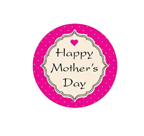 """Happy Mother's Day 1-1/2"""" Round Labels - 30 Stickers Per Sheet, 1 Sheet Per Pack"""