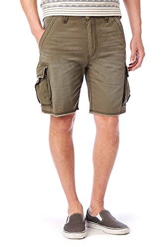 UNIONBAY Men's Vintage Stretch Ripstop Relaxed Cargo Short, Blasted Military, 32
