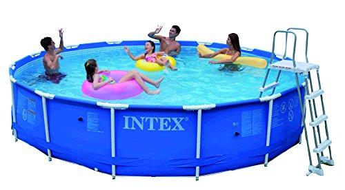 INTEX Metal Frame Set - Piscina Desmontable Tubular, 457 x 91 cm, con depuradora y complementos