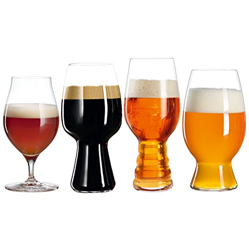 Spiegelau & Nachtmann 4991697 Tasting Kit Set/4 499/53 _ 51 _ 52 _ 21 Craft Beer Glasses UK/3, 4 Unidades, Transparente, 19.6 x 37,2 x 10.19 cm