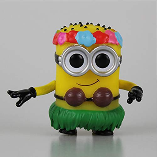 Luckly77 Hula Minions Despicable Me Minions Exquisite Abbildung POP Sammler Spielzeug for Kinder