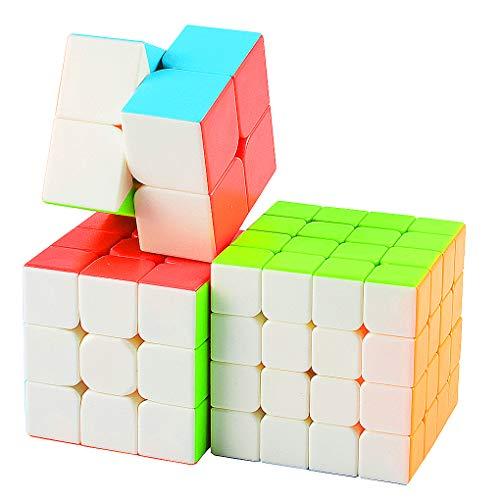 TOYESS Cubo Mágico Puzzle Pack,Speed Cube 5x5x5,4x4x4,3x3x3,2x2x2 Cubo de Velocidad Rompecabezas Cajas de Regalo Set para Adulto Niños,Stickerless