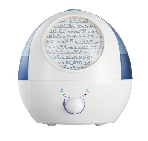 Solac 238403 Humidificador ultrasonidos, 35 W, 1.5 litros, Blanco y Azul bebé