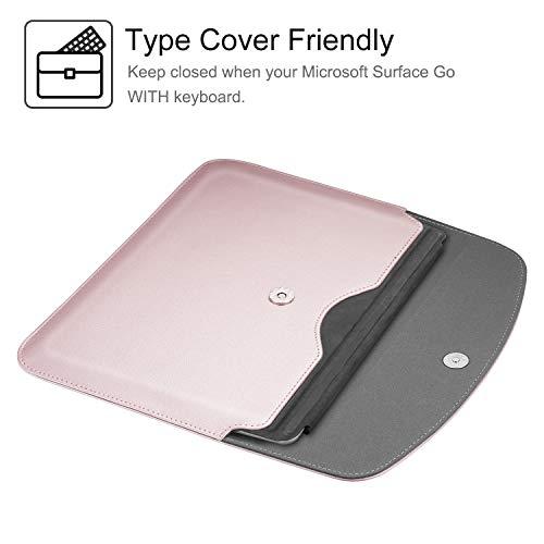 Fintie Sleeve Tasche Hülle für Microsoft Surface Go 2 2020/ Surface Go 2018 10 Zoll Tablet - Hochwertige Schutztasche Schutz Cover aus Kunstleder (Type Cover kompatibel), Roségold