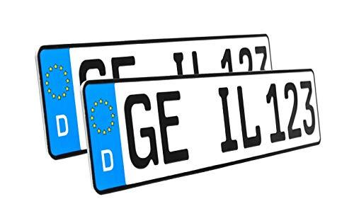2 x Kennzeichen | 520x110mm | Nummernschilder | KFZ Auto PKW LKW | DHL-Versand