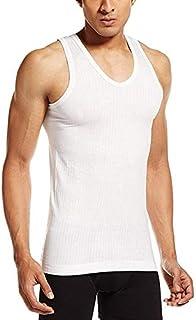 VIP Frenchie Elite White Men's Cotton Vest Pack of 6 (95 cm)