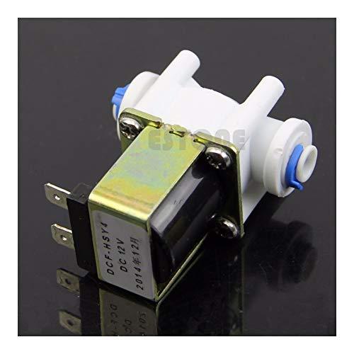 liutao Válvula Solenoide Válvula electromagnética eléctrica for Purificador de Agua Frigorífico Normalmente Cerrado DC 12V Solenoide