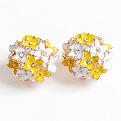 YCEOT Pendientes coloridos con diseño de flores para mujer, con pintura al óleo de cristal, accesorios de moda ligeros y lujosos.