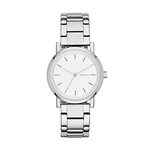 DKNY Women's Soho Quartz Stainless Steel Three-Hand Watch, Color: Silver (Model: NY2342)