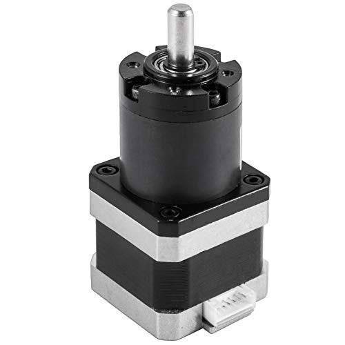 Mophorn Nema 17 Geared Stepper Motor 48mm Body 14:1 Planetary Gearbox Low Speed High Torque 3.1V 1.3A 55N.cm for DIY 3D Printer Extruder CNC Milling Engraving Machine