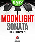 Moonlight Sonata Beethoven I Easy / Intermediate Sheet Music Piano I Simplified Version: Teach Yourself How to Play Piano I Popular Classical Song for Adults Kids Beginners I Big Notes Video Tutorial