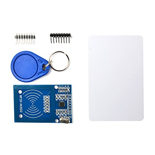 BUYGOO RC522 RFID S50 Card Keychain Module with RF Reader for Arduino - Create Keycards, Access Control System, Punch Card System