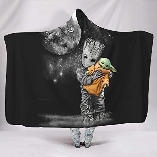 nanjingjin Tragbare Kapuzendecken tragbar weich und warm Neuheit Decke für Schlafsäcke White 150x200cm