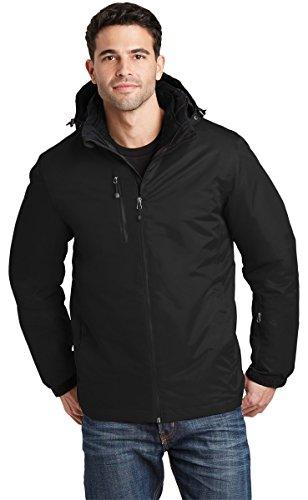 Port Authority Vortex Waterproof 3-in-1 Jacket. J332, Black/Black, L