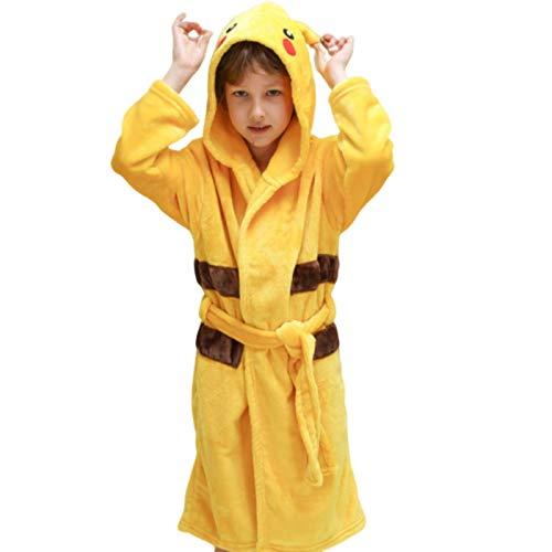 N-B Kinder Bademantel für Mädchen Pokemon Pikachu Dinosaurier Polyester Kinder Jungen Bademäntel Strandtuch Enfant Nachtwäsche Hoodie Bademantel