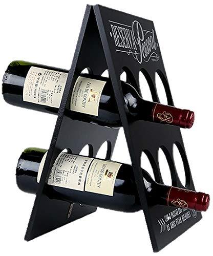 W23 折りたたみ式 ワインラック 木製 アンティーク ホルダー ワイン シャンパン ボトル 6本 収納 ケース イ...