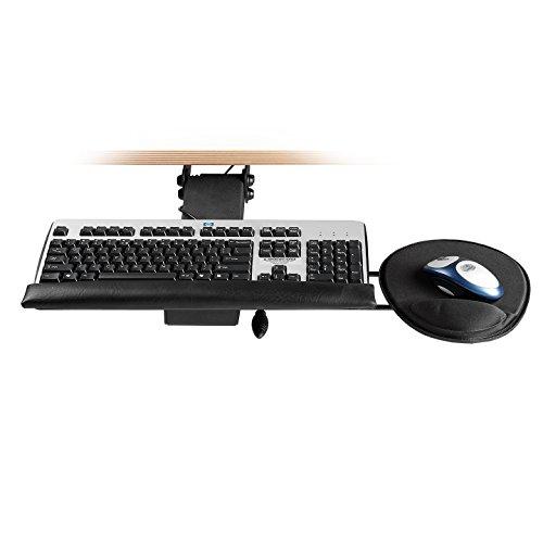 Dataflex 97.513 Tastatur- und Mausablage, Metall, schwarz, 76.4 x 53.0 x 16.4 cm