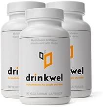 Drinkwel for Hangovers, Liver Support & Detox Multivitamin (3-Pack)