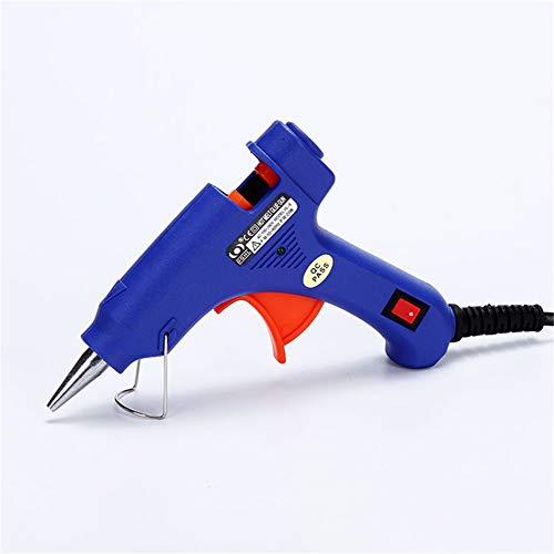 HEEYEE Pistola de Pegamento Caliente, se calienta rápidamente 20W Pistola de Pegamento fusión 20W para Artes Bricolaje, afición, embarcaciones, Madera, Vidrio, Tarjeta, plástico
