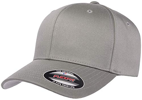 Flexfit Herren Men's Athletic Baseball Fitted Cap Kappe, grau, S/M